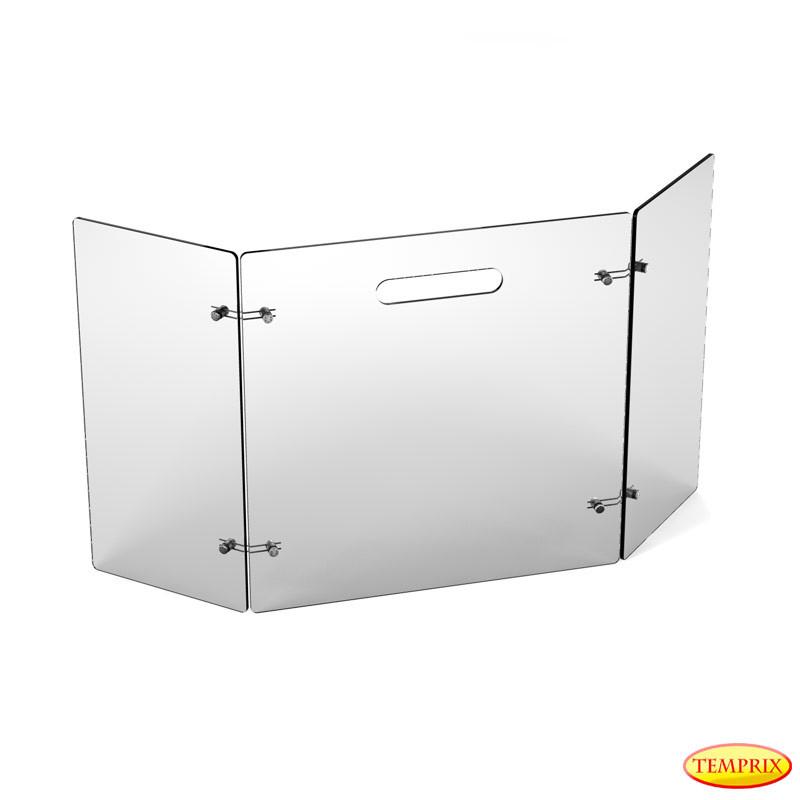 Parawan De Luxe, szare szkło 600mm x 945mm