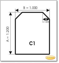 Podstawa, Szare szkło, Forma: C1