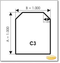 Podstawa, Przezroczyste szkło, Forma: C3