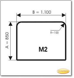 Podstawa, Przezroczyste szkło, Forma: M2