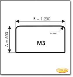 Podstawa, Przezroczyste szkło, Forma: M3