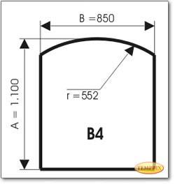 Podstawa, Szare szkło, Forma: B4