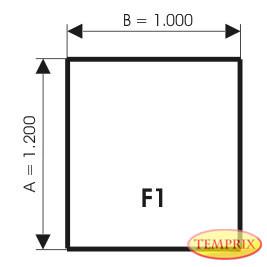Podstawa, Aluminium, Forma: F1