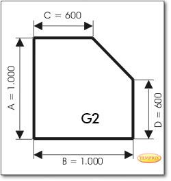 Podstawa, Przezroczyste szkło, Forma: G2
