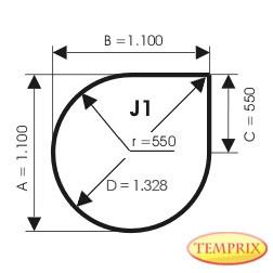 Podstawa, Przezroczyste szkło, Forma: J1