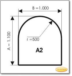 Podstawa, Szare szkło, Forma: A2