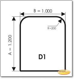 Podstawa, Szare szkło, Forma: D1