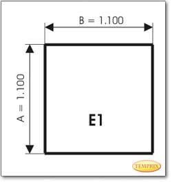 Podstawa, Przezroczyste szkło, Forma: E1