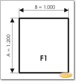 Podstawa, Szare szkło, Forma: F1