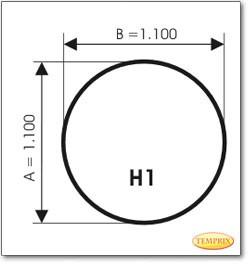 Podstawa, Przezroczyste szkło, Forma: H1