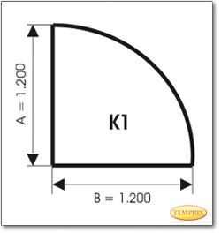 Podstawa, Przezroczyste szkło, Forma: K1
