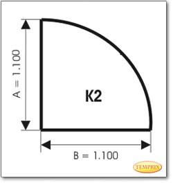 Podstawa, Przezroczyste szkło, Forma: K2
