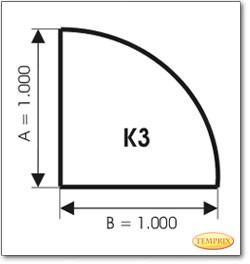 Podstawa, Przezroczyste szkło, Forma: K3