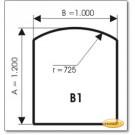 Podstawa, Brązowe szkło, Forma: B1