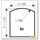 Podstawa, Brązowe szkło, Forma: B4