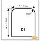 Podstawa, Brązowe szkło, Forma: D1