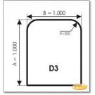 Podstawa, Brązowe szkło, Forma: D3