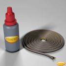 Kamindichtung rund, hohl, O 4 mm 3 Meter inkl. Spezialkleber