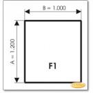 Podstawa, Brązowe szkło, Forma: F1