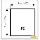Podstawa, Brązowe szkło, Forma: F2