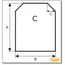 Podstawa, przezroczyste szkło, Forma C, żądanego formatu S1