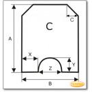 Podstawa, przezroczyste szkło, Forma C, żądanego formatu S5