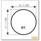 Podstawa, Brązowe szkło, Forma: H1