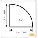 Podstawa, Brązowe szkło, Forma: K2