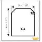 Podstawa, Przezroczyste szkło, Forma: C4